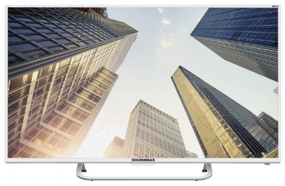 Телевизор LED 32 Soundmax SM-LED32M08 белый 1366x768 50 Гц VGA USB SCART автомобильная магнитола с cd mp3 soundmax sm cdm1045