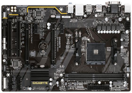 Материнская плата GigaByte GA-A320-DS3V1.1 Socket AM4 AMD A320 2xDDR4 1xPCI-E 16x 2xPCI 2xPCI-E 1x 4xSATAIII ATX Retail материнская плата gigabyte ga ab350m ds2 socket am4 amd b350 2xddr4 1xpci e 16x 2xpci e 1x 4xsataiii matx retail