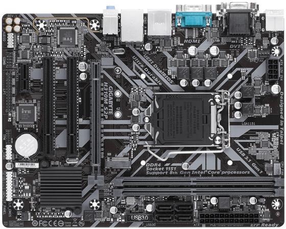 все цены на Материнская плата GigaByte H310M S2P Socket 1151 v2 H310 2xDDR4 1xPCI-E 16x 2xPCI 1xPCI-E 1x 4 mATX Retail онлайн