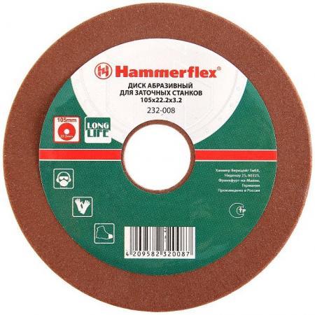 105 х 22.2 х 3.2 Диск заточный абразивный Hammer Flex 232-008 для заточки цепей для SPL105, SPL150 станок для заточки цепей hammer flex spl105