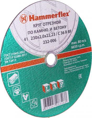 230 x 2.0 22,23 C 36 R BF Круг отрезной Hammer Flex 232-006 по камню