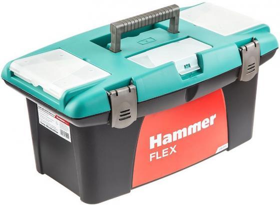 """Ящик для инструментов Hammer Flex 235-011 19"""" с морозостойким замком и органайзером 480*235*270 цена"""