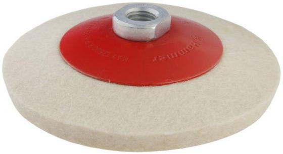 Диск полировальный Hammer Flex 227-024 PD M14 FL 125x2 мм войлок, с наклоном, для шлифмашин круг полировальный hammer 227 024 pd m14 fl 125 x 2 мм