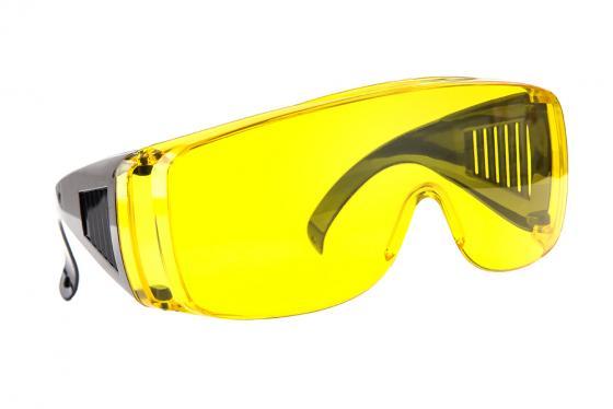 Очки защитные Hammer Flex PG02 230-014 желтые с дужками цена