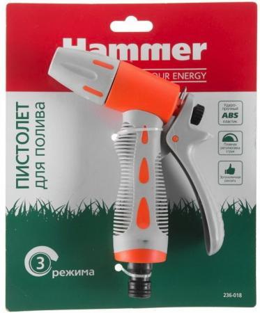 Пистолет для полива Hammer Flex 236-018 регулируемое распыление фильтр hammer 233 018