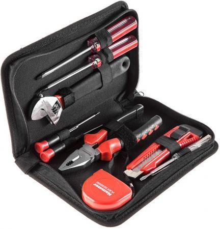 Набор инструментов Hammer Flex 601-035 9 предметов в пенале цена