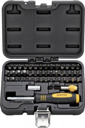 Набор бит BERGER BG-45SB ручка+биты 45 предметов в кейсе набор бит berger bg 32sb 32пр