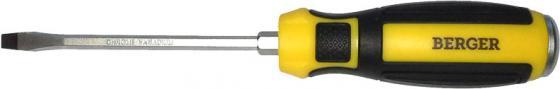 Отвертка BERGER BG1034 шлицевая ударная с шестигранником под гаечный ключ 5.5x100мм отвертка диэлектрическая крестовая berger bg1060 pz2x100мм