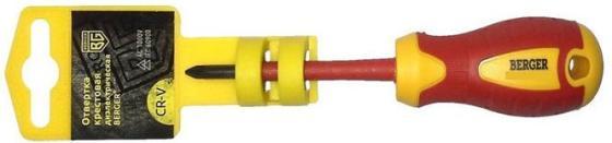 Отвертка BERGER BG1056 крестовая ph1x80мм диэлектрическая до 1000В