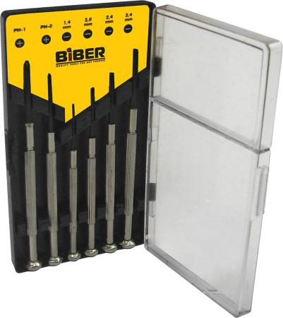 Набор отверток BIBER 85565 для точных работ 6шт. набор отверток kendo для точных работ 7шт