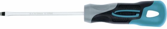 Отвертка GROSS 12105 SL4,0 x 100 мм S2, трехкомпонентная рукоятка отвертка ph2x150 мм gross 12145