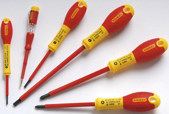 Набор отверток STANLEY FATMAX 0-65-443 электрика из 6шт. PZ stanley 0 47 443 разметочный набор yellow
