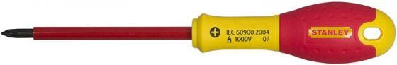 Отвертка STANLEY FATMAX 0-65-416 электрика 1000V PH2*125мм диэлектрическая отвертка fatmax 1000v 3 5х75 мм stanley 0 65 411