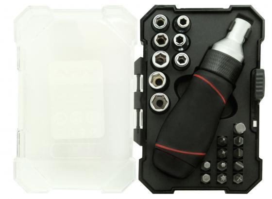 Набор бит VIRA 305080 набор головок и бит с реверсивным держателем 21 предмет набор инструмента vira 305057