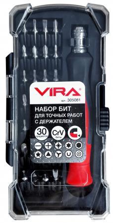 Набор отверток VIRA 305081 набор бит для точных работ с держателем 30 предметов отвертка vira 305081