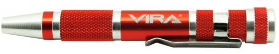 Отвертка для точных работ VIRA 303007 с набором бит, 9 штук отвертка vira 305081