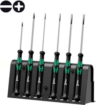 Набор отверток WERA WE-118152 для электронщиков + подставка 6 предметов набор инструментов wera we 057690