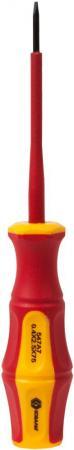 Отвертка КОБАЛЬТ 646-430 Ultra Grip SL 2,5 х 75мм CR-V, двухкомп.рукоятка отверточная рукоятка ultra grip с набором бит кобальт 646 676