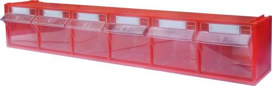 Короб СТЕЛЛА FOX-102 откидной красный/прозрачный 6ячеек стойка напольная стелла fox 405 00 16 00