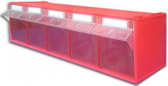 Короб СТЕЛЛА FOX-103 откидной красный/прозрачный 5ячеек стойка напольная стелла fox 405 00 16 00