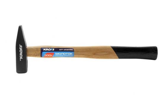 Молоток KROFT 202056 300 гр., ручка из твердых пород древесины цена