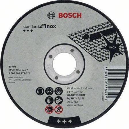 Круг отр. BOSCH Standard for Inox 115x1,6x22 (2.608.603.170) по нержавеющей стали