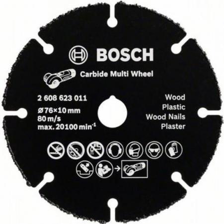 Круг отрезной BOSCH 2608623011 для ушм по дереву 76мм по дереву для УШМ отрезной диск для ушм 115 мм bosch 2608623012