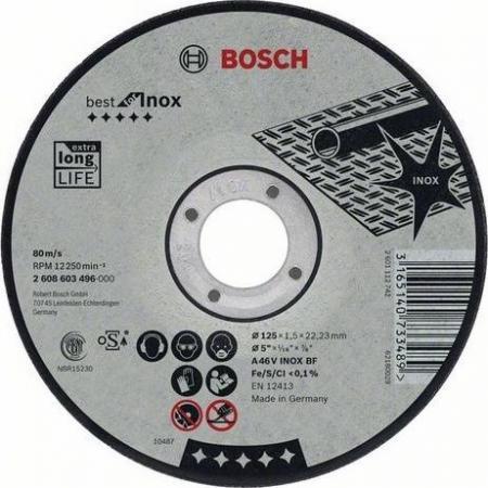 Круг отрезной BOSCH Best for Inox 115x1,5x22 (2.608.603.494) по нержавеющей стали