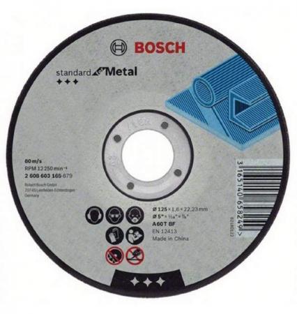 Круг отрезной BOSCH Best for Metal 125x1,0x22 выпуклый (2.608.603.515) по металлу круг отрезной bosch 115х1 5х22 best for metal 2 608 603 517