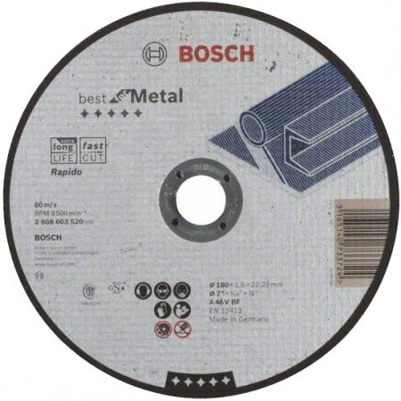 Круг отрезной BOSCH Expert for Metal 115x1,6x22 (2.608.600.214) по металлу круг отрезной bosch 115х2 5х22 expert for stone 2 608 600 320