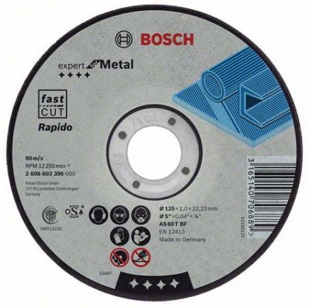 Круг отрезной BOSCH Expert for Metal 180x1,6x22 (2.608.603.399) по металлу отрезной круг по металлу bosch expert 230х1 9мм прямой 2608603400