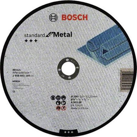 Круг отрезной BOSCH Standard for Metal 230x3,0x22 (2.608.603.168) по металлу цена