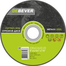 Круг отрезной DEBEVER WC23025229S 230х2.5х22.23 по металлу борфреза debever dg 0616 6 nf