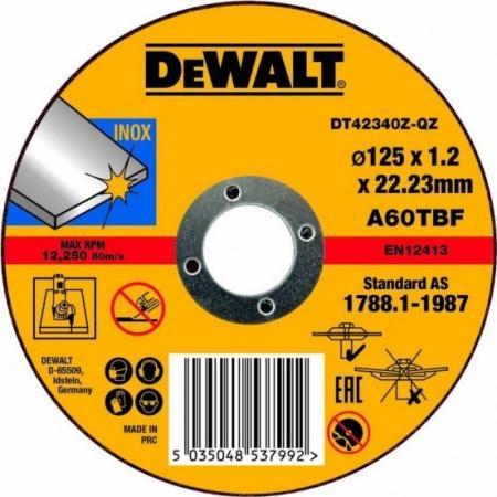 Круг отрезной DEWALT DT42340Z-QZ Ф125x22.2х1.2мм по металлу все цены