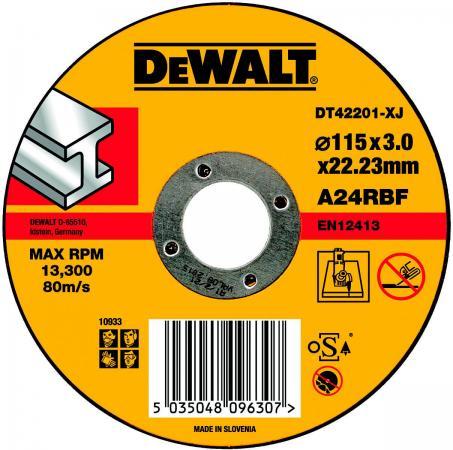 Круг отрезной DeWALT DT42201-XJ для УШМ 115х22.2х3.0мм тип 1 плоский по металлу все цены