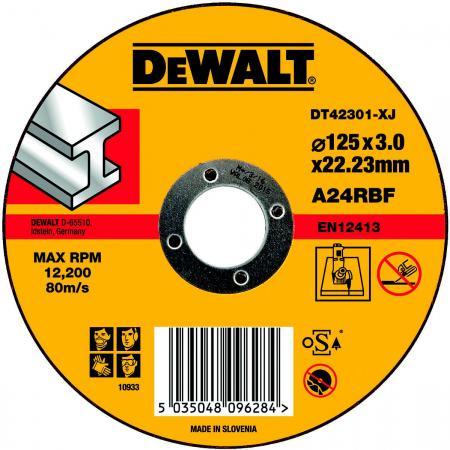 brand new 8512c 53e94 Круг отрезной DeWALT DT42301-XJ для УШМ 125х22.2х3.0мм тип 1 плоский по  металлу