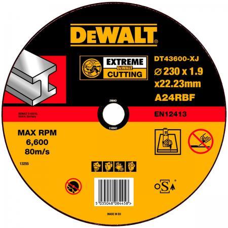 Круг отрезной DeWALT DT43600-XJ для УШМ 230х22.2х1.6мм EXTREME тип 1 плоский по металлу все цены