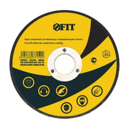 Круг отрезной FIT 37156стали у 125*1.6*22.2мм по металлу и нержавеющей стали круг отрезной fit 36932