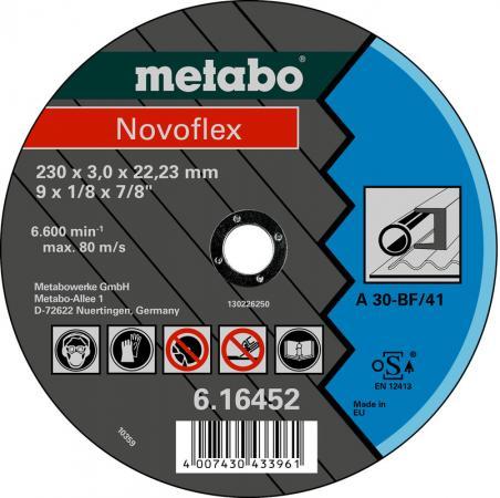 Круг отрезной METABO 616450000 Novoflex 180x3.0мм прямой А30 по металлу круг отрезной metabo 180х1 6х22 616508000