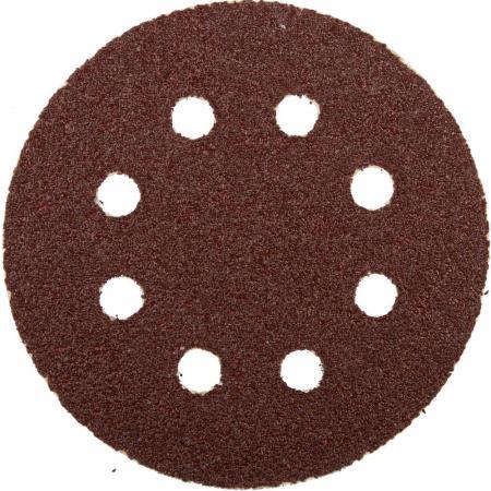 Круг шлифовальный ЗУБР 35562-125-040 125мм P40 8отв. набор 5 шт цена за комплект круг шлифовальный elitech 1820 038400 5 шт p120 125 мм