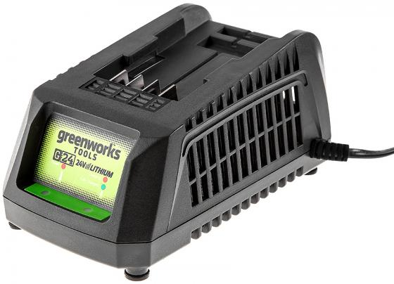 Зарядное устройство GREENWORKS G24C 2913907 (2903607) 24в g24 220В время заряда 2Ач 30мин / 4Ач 60м аксессуар защитное стекло asus zenfone 4 a450cg gecko 0 26mm zs26 gasa450cg