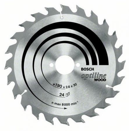 Диск пильный BOSCH Optiline Wood 190x48x20/16 (2.608.640.614) 190x48x20/16 диск пильный bosch optiline 2608640610
