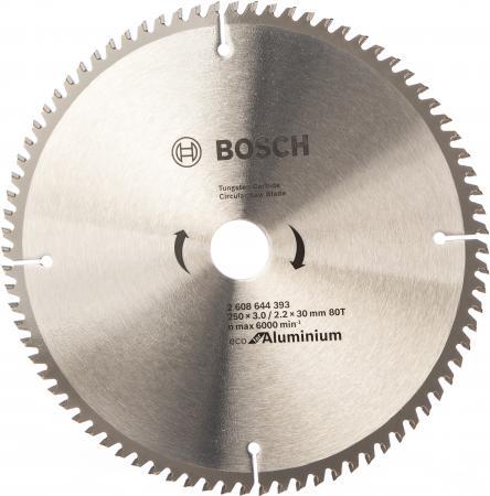 Диск пильный твердосплавный BOSCH ECO AL 250x30-80T (2.608.644.393) по алюминию диск пильный твердосплавный cmt 291 270 42m