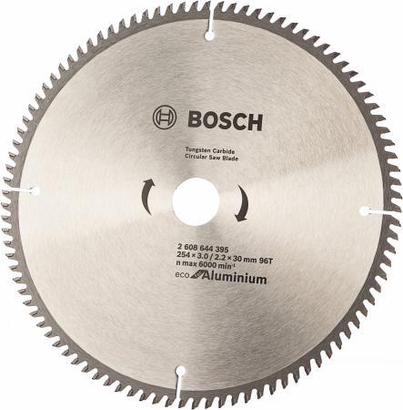 Диск пильный твердосплавный BOSCH ECO AL 254x30-96T (2.608.644.395) по алюминию пильный диск eco wood 254x30 мм 40t bosch 2608644383
