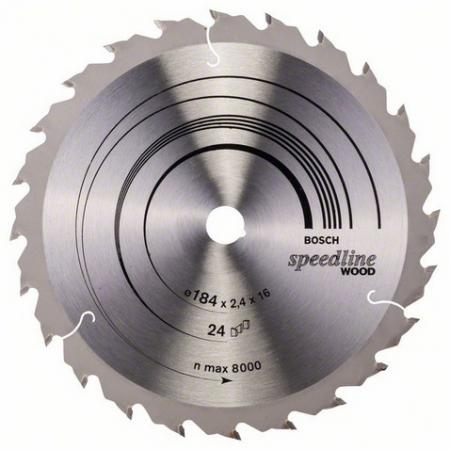 Круг пильный твердосплавный BOSCH 2608640795 184х16мм 24 SPEEDLINE цены