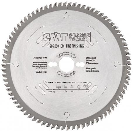 Круг пильный твердосплавный CMT 285.072.13M 315X30X3.2/2.2 10° 15° ATB Z=72 диск пильный твердосплавный cmt 293 028 12m