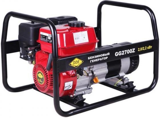 Генератор бензиновый DDE GG2700Z однофазн.ном/макс. 2,0/2.2 кВт (DDE UP168, т/бак 3.6л, ручн/ст, 38 бензиновый генератор dde gg1300