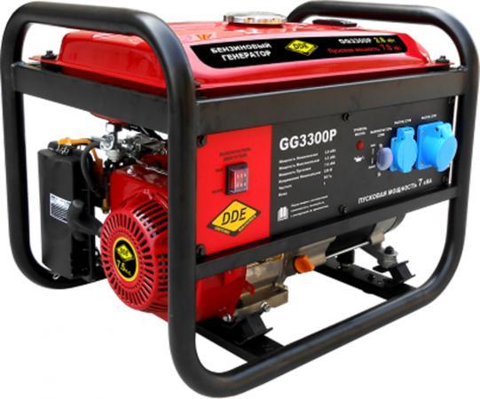 Генератор бензиновый DDE GG3300P одноф. .ном/макс./пиков. 2,8/3.5/7,0 кВт (SC170, т/бак 15л, ручн/ст цена 2017