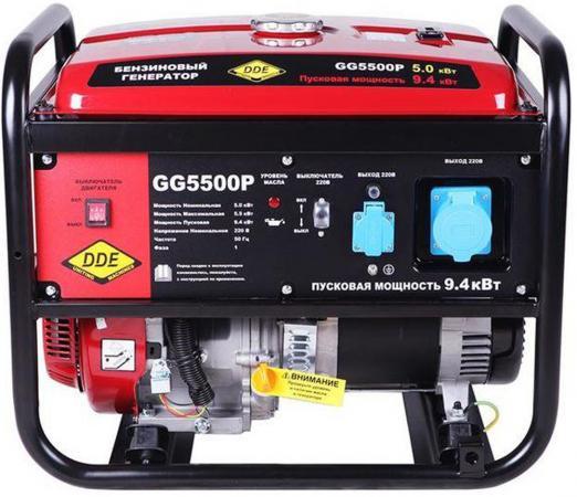 Генератор бензиновый DDE GG5500P однофазн.ном/макс. 5,0/5,5/9.4 кВт (DDE H188F, т/бак 25л,, 82кг) бензиновый генератор инверторного типа dde dpg1001si