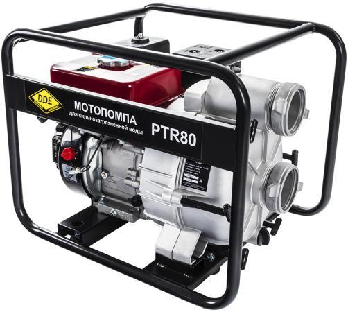 цена на Мотопомпа бензиновая грязевая DDE PTR80 (вых 80 мм, 7,0 л.c,26м,1080л/мин, 3,6л,43кг)